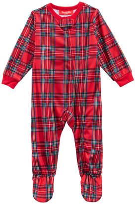 Matching Family Pajamas Infant Brinkley Plaid Footed Pajamas