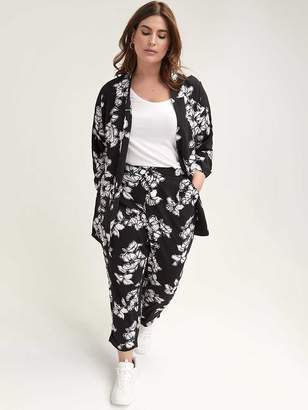 Pull-On Floral Print Ankle Pant