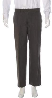 Hermes Linen-Blend Striped Pants