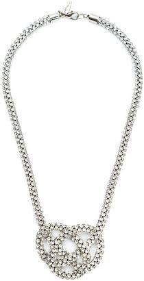 Michael Schmidt Swarovski crystal knot necklace $668 thestylecure.com