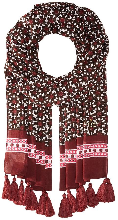 Kate SpadeKate Spade New York - Floral Tile Oblong Scarf Scarves