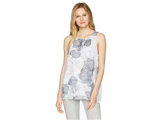 Vince Camuto Sleeveless Etched Island Floral Blouse Women's Blouse