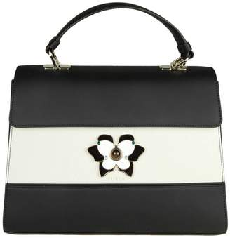 Furla Handbag Altea M Bag In Color Block Smooth Leather With Butterfly Jewel Closure