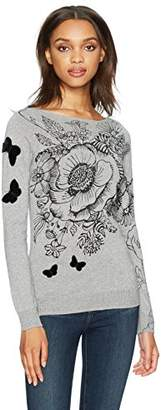 Desigual Women's See Woman Flat Knitted Thin Gauge Pullover