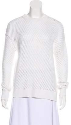 Vince Long Sleeve Open Knit Sweater