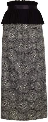 Jiri Kalfar Dark Bohemian Pattern High Waist Pencil Skirt