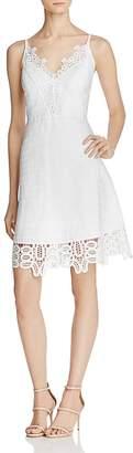 Laundry by Shelli Segal Lace-Trim V-Neck Dress $195 thestylecure.com