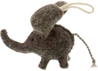 "One Kings Lane 4"" Elephant Ornament - Gray"