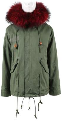 Green Cotton Parka Ny Coats