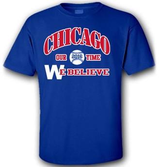 """Generic Chicago Baseball """"We Believe 2016"""" T-Shirt, Medium"""