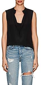 Derek Lam Women's Kara Silk Sleeveless Blouse-Black
