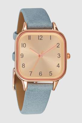 Next Womens Blue Square Case Watch