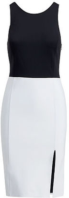 Polo Ralph Lauren Two-Tone Sleeveless Dress $298 thestylecure.com