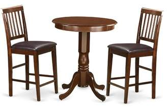 Wooden Importers Eden 3 Piece Counter Height Pub Table Set Wooden Importers