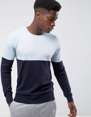 French Connection Colour Block Knitted Jumper