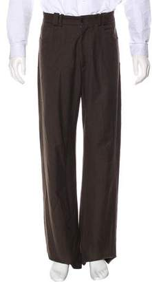 Gianni Versace Relaxed Fit Wool-Blend Pants