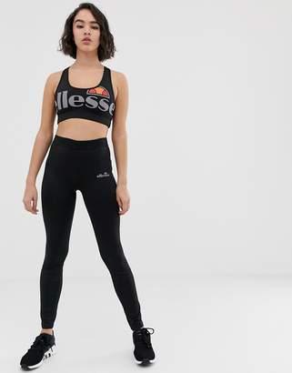 Ellesse sports leggings with contrast side print