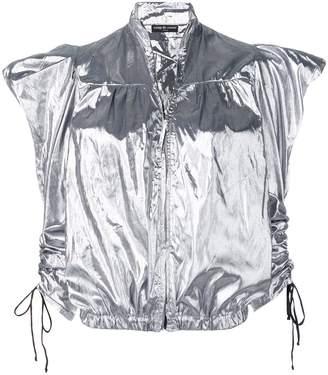 Coup De Coeur metallic drape-sleeve jacket