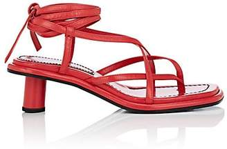 Proenza Schouler Women's Leather Multi-Strap Sandals - Red