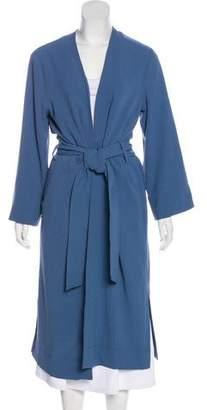 Ganni Crepe Long Coat