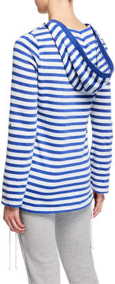 Marc Ny Performance Striped Kangaroo-Pocket Hooded Sweatshirt