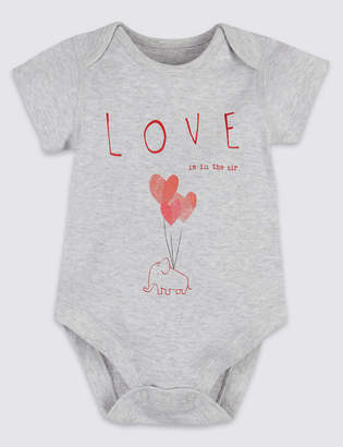 Marks and Spencer Pure Cotton Love Is In The Air Bodysuit