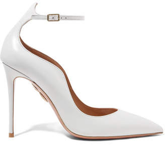 Aquazzura Dolce Vita Leather Pumps - White