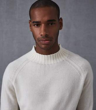 Reiss ROMAN TURTLENECK JUMPER Ecru