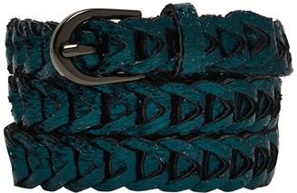 Nooki Design Metallic Loop Belts Emerald