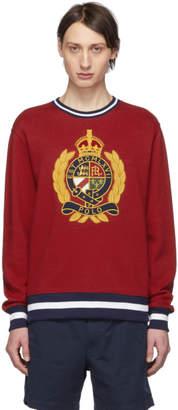 Polo Ralph Lauren Red Fleece Graphic Sweatshirt