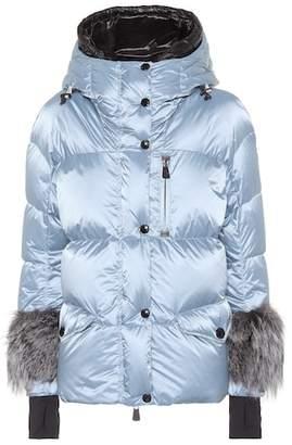 Moncler Limides fur-trimmed down ski jacket