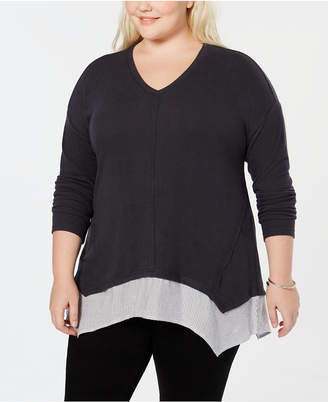Style&Co. Style & Co Plus Size Layered-Look Top