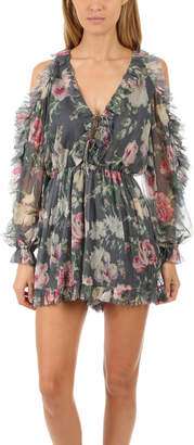 Zimmermann Iris Tie Sleeve Playsuit