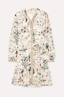 Tory Burch Cora Printed Silk Crepe De Chine Dress - Ivory