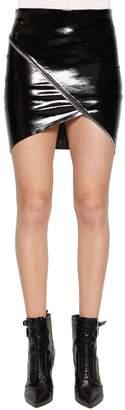 RtA Ivy Zips Patent Leather Mini Skirt