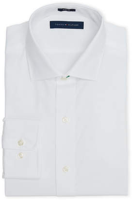 Tommy Hilfiger White Poplin Slim Fit Dress Shirt