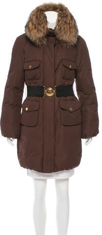 MonclerMoncler Melbourne Fur-Trimmed Coat