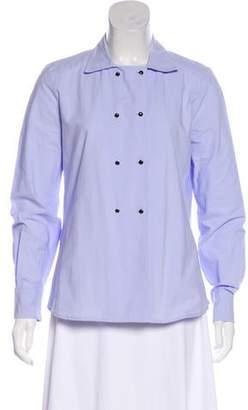 Les Prairies de Paris Long Sleeve Button-Up Top w/ Tags