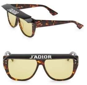 Christian Dior DiorClub2 56MM Square Sunglasses