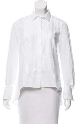 Brunello Cucinelli High-Low Tuxedo Blouse w/ Tags