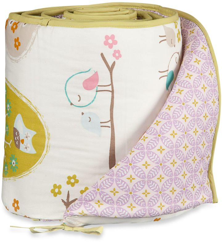 Lolli LivingTM by Living Textiles Baby Mix & Match Crib Bumper in Lovebirds/Tigerlily Orchid