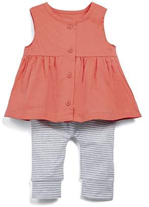 Mamas and Papas Baby Girls' Blouse & Legging Clothing Set, (Red Tomato)