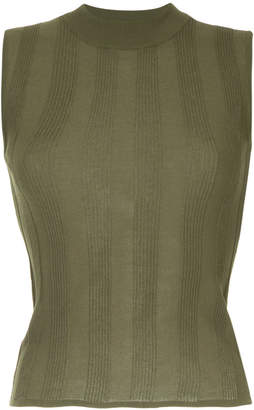 H Beauty&Youth rib knit sleeveless top