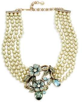 Heidi Daus Bouquet Of Flowers Faux-Pearl Crystal Pendant Necklace