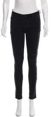 RtA Denim Mid-Rise Skinny Jeans