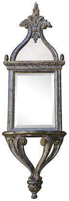 One Kings Lane Vintage Italian Silver Leaf Mirror with Shelf