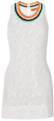 Missoni Mare Zig Zag Crochet Trim Mini Dress