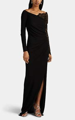 Prabal Gurung Women's Tirana Fluid Jersey Gown - Black