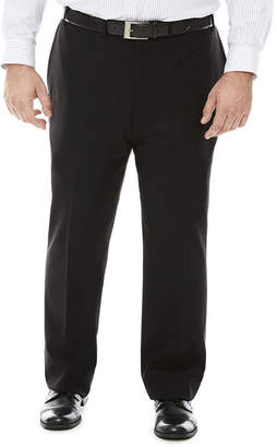 Claiborne Grid Flat-Front Suit Pants - Big & Tall