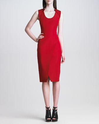 J. Mendel Sleeveless Silk Faille Dress